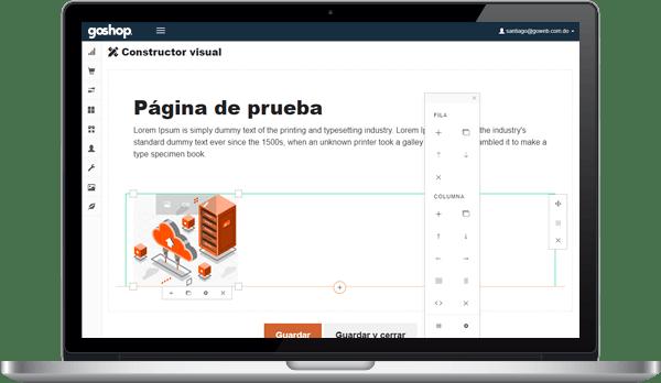 GoShop Editor Visual de Páginas